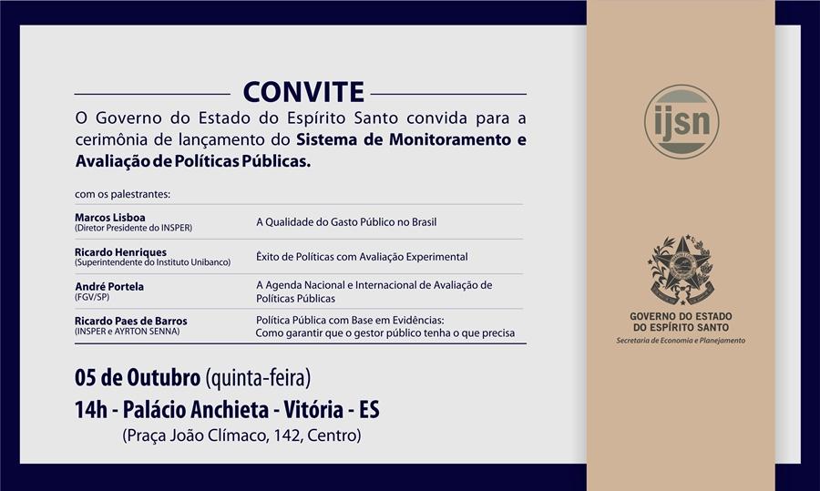 4cd8bffb7c Governo ES - Espírito Santo lança sistema inédito de Monitoramento e  Avaliação de Políticas Públicas