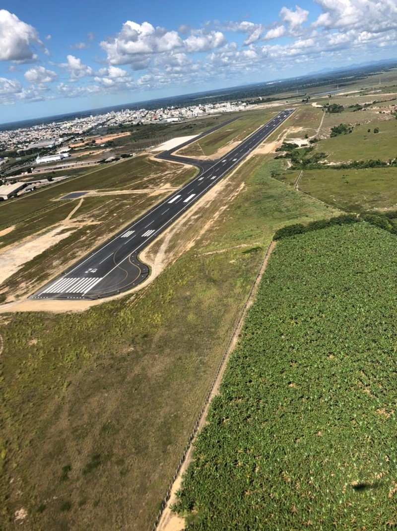 Governo do ES conclui obras da Pista do Aeroporto Regional de Linhares