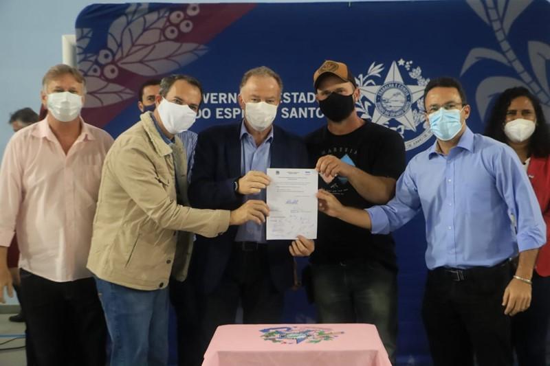 Governo do Estado autoriza obras de calçamento rural em Domingos Martins