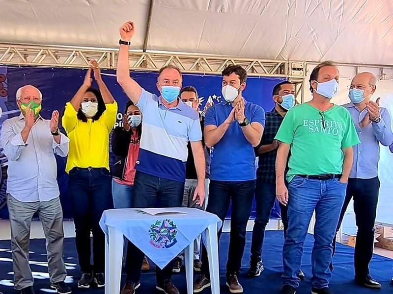 Governador anuncia expansão das obras de pavimentação da ES-388 em Vila Velha